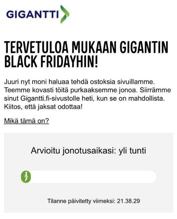 Gigantti Black Friday