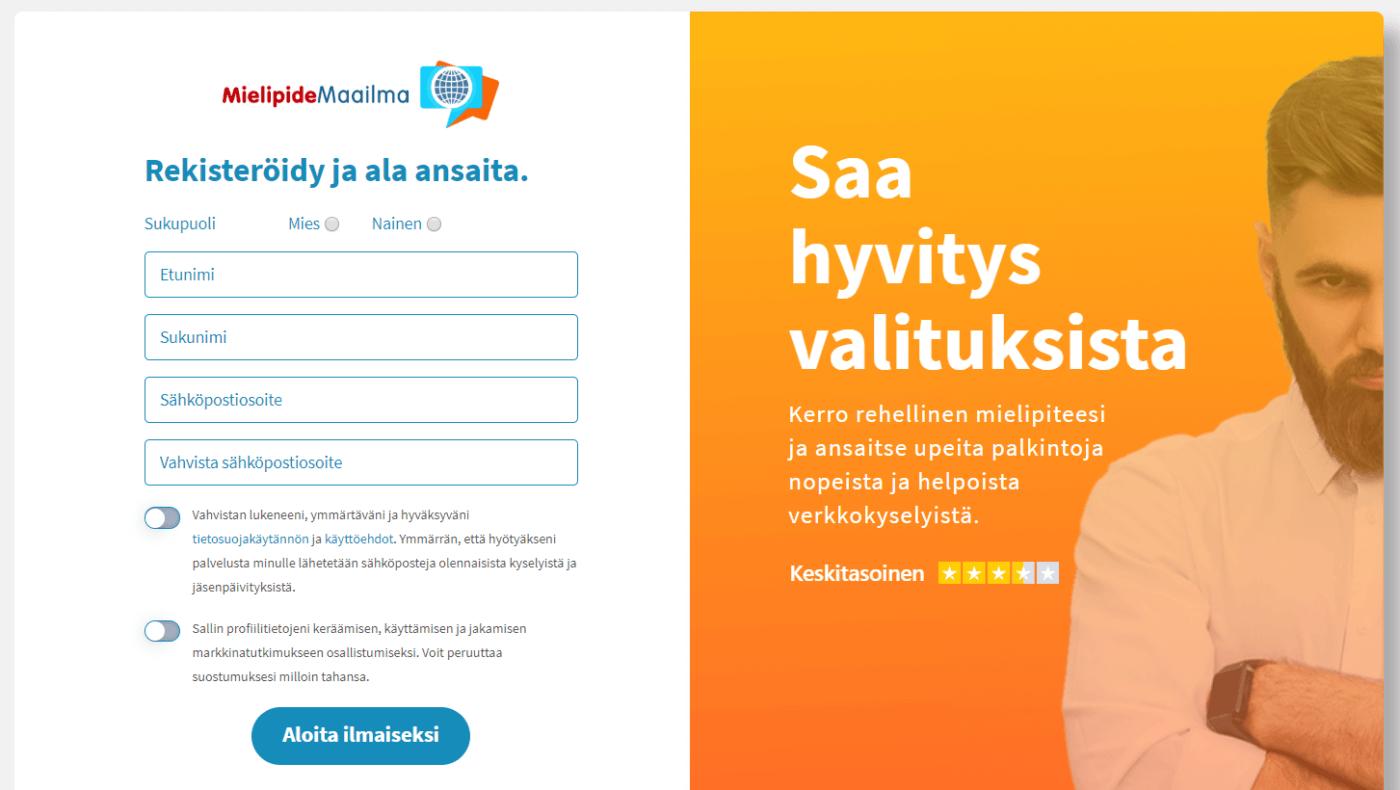 MielipideMaailma.fi kokemuksia